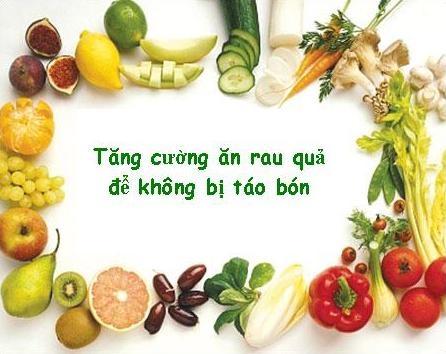 Những thực phẩm trị chứng táo bón hiệu quả