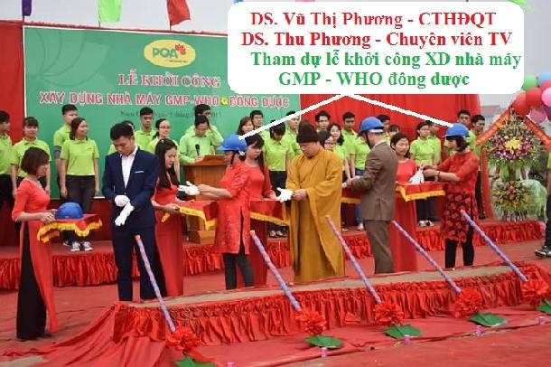 DS Thu Phương - tham gia lễ khởi công xây dựng nhà máy đạt tiêu chuẩn quốc tế GMP - WHO